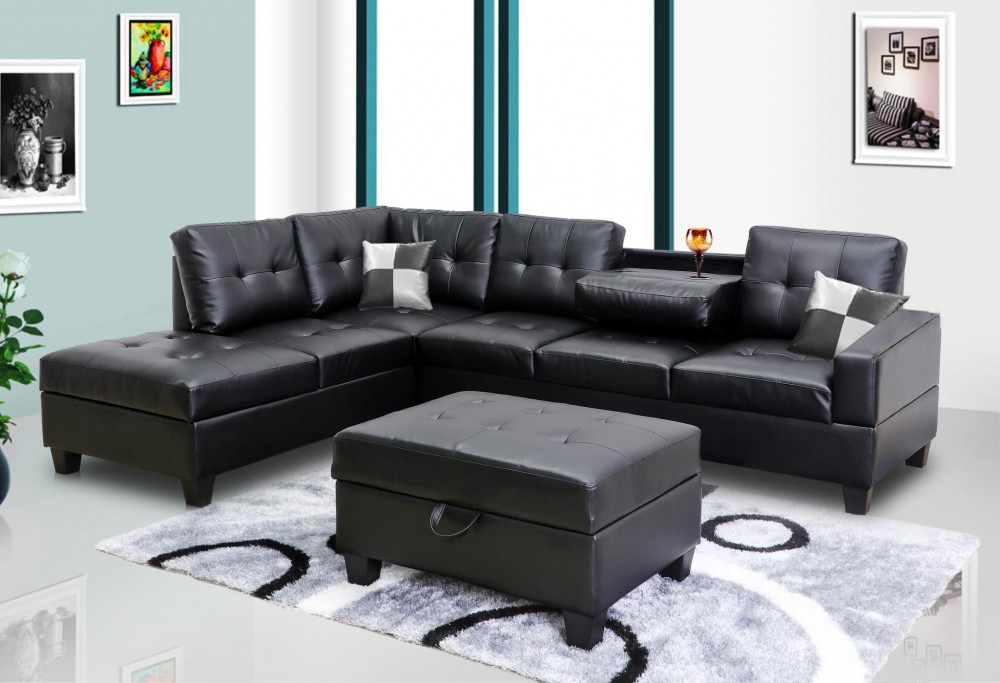 living room black leather sectional interior design india photos faux 8077801 sofas price busters furniture
