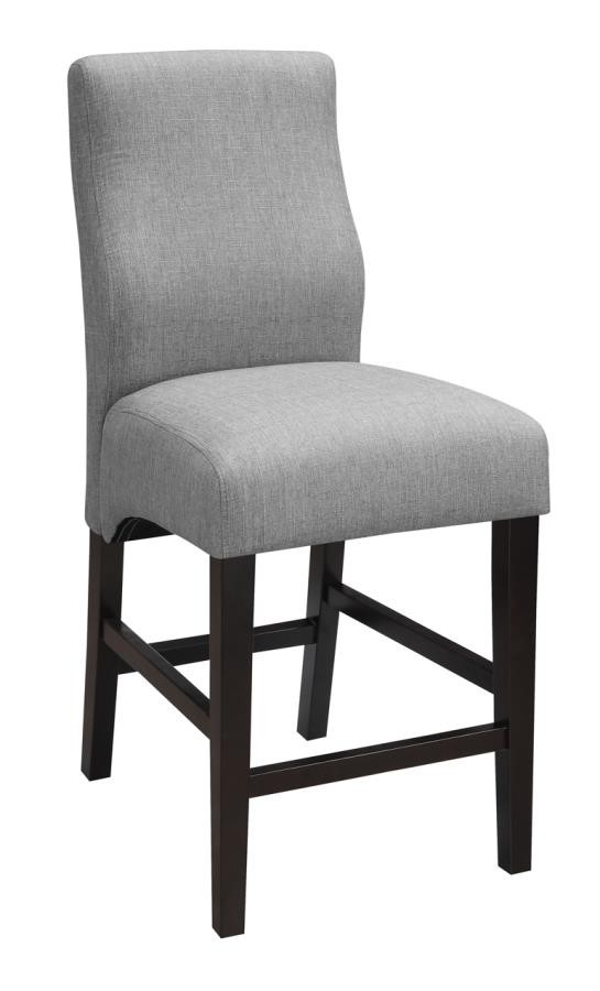upholstered counter height chairs corner chair with storage everyday dining stools transitional grey