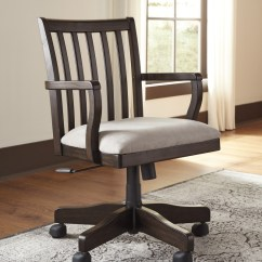 Home Office Desk Chairs Electric Chair Execution Videos Townser Grayish Brown Swivel H636 01a