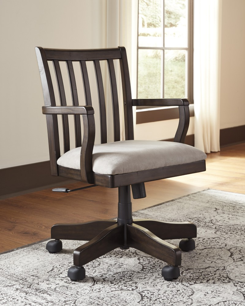 Home Office Desk Chairs Townser Grayish Brown Home Office Swivel Desk Chair