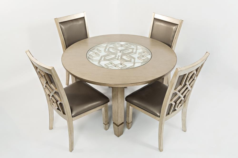 four chairs furniture tan leather chair and ottoman casa bella round dining table with 165052withfourdiningchairs tables plourde company