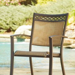 Sling Chair Outdoor Amazon Crushed Velvet Covers Carmadelia Tan Brown 4 Cn P376 601a