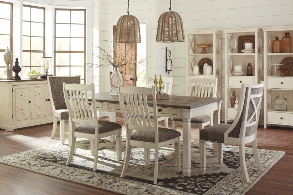 sofa mart dining tables three cushion bolanburg rect table 6 uph side chairs d647 25 01 4 02 2
