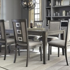 Gray Side Chair Strathwood Anti Gravity Chadoni Rect Dining Table 6 Uph Chairs D624 35 01 Room Groups Railway Freight Furniture