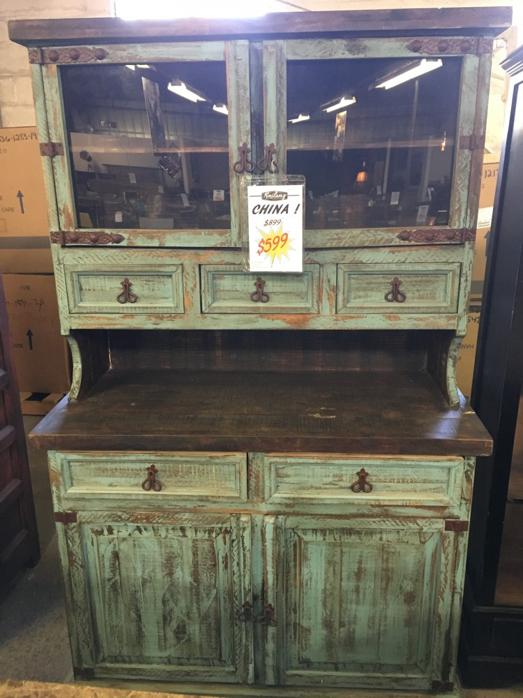 patio chair pads desk under 100 rustic canyon distressed turquoise china cabinet | vit 10 cabinets railway ...