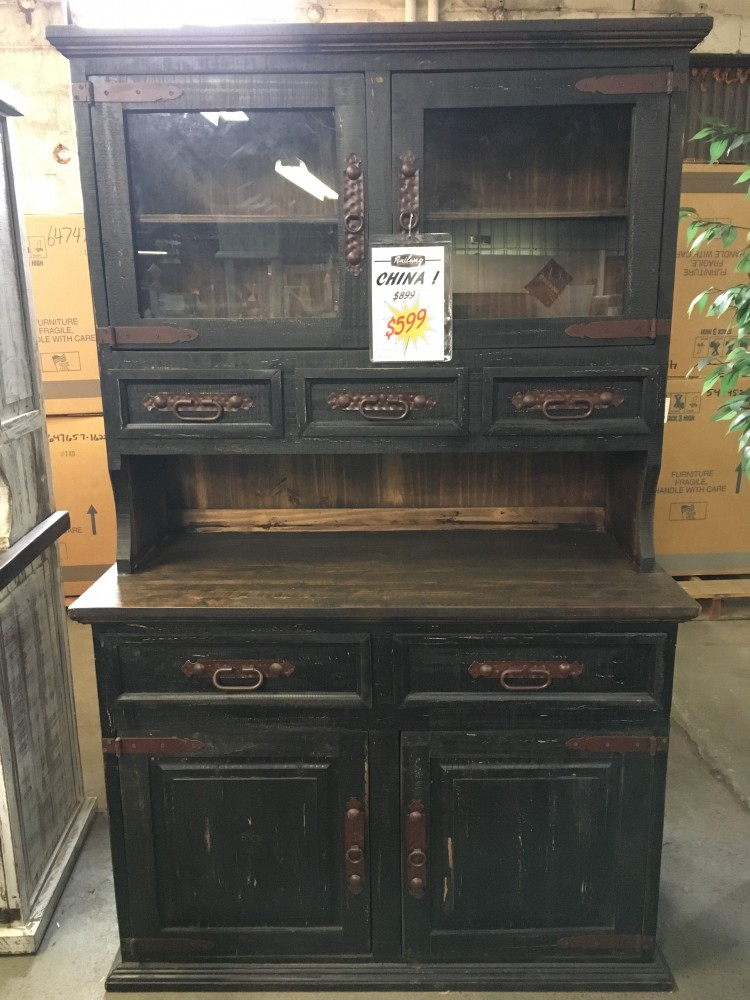 rustic canyon distressed black china cabinet vit 10 black china cabinets railway freight furniture