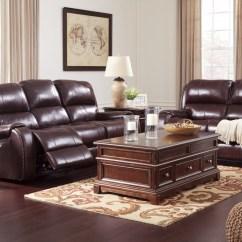 Burgundy Leather Sofa And Loveseat Maison Gilmanton Reclining Power 73606 14 15