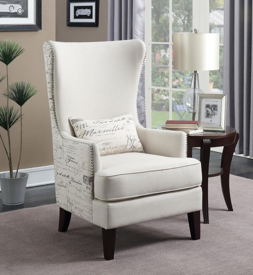Traditional Cream Accent Chair  904047  Living Room