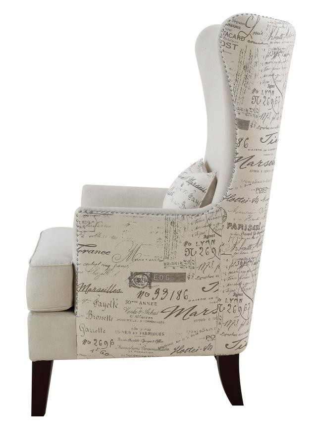 Traditional Cream Accent Chair  904047  Living Room Chairs  Price Busters Furniture