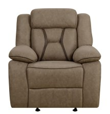 Houston Casual Tan Glider Recliner 602266 Recliners