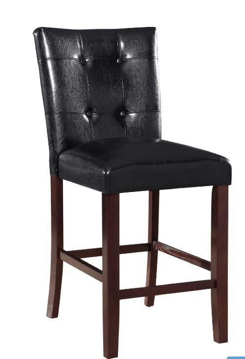 upholstered counter height chairs folding deck ducey black stool pack of 2 103539