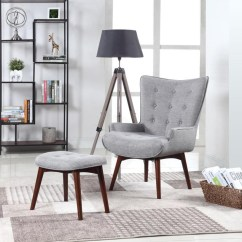 Gray Accent Chair With Ottoman Plastic Seat Covers For Kitchen Chairs Scott Living Mid Century Modern Grey And