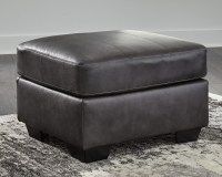 Kensbridge - Charcoal - Ottoman | 6390514 | Leather ...