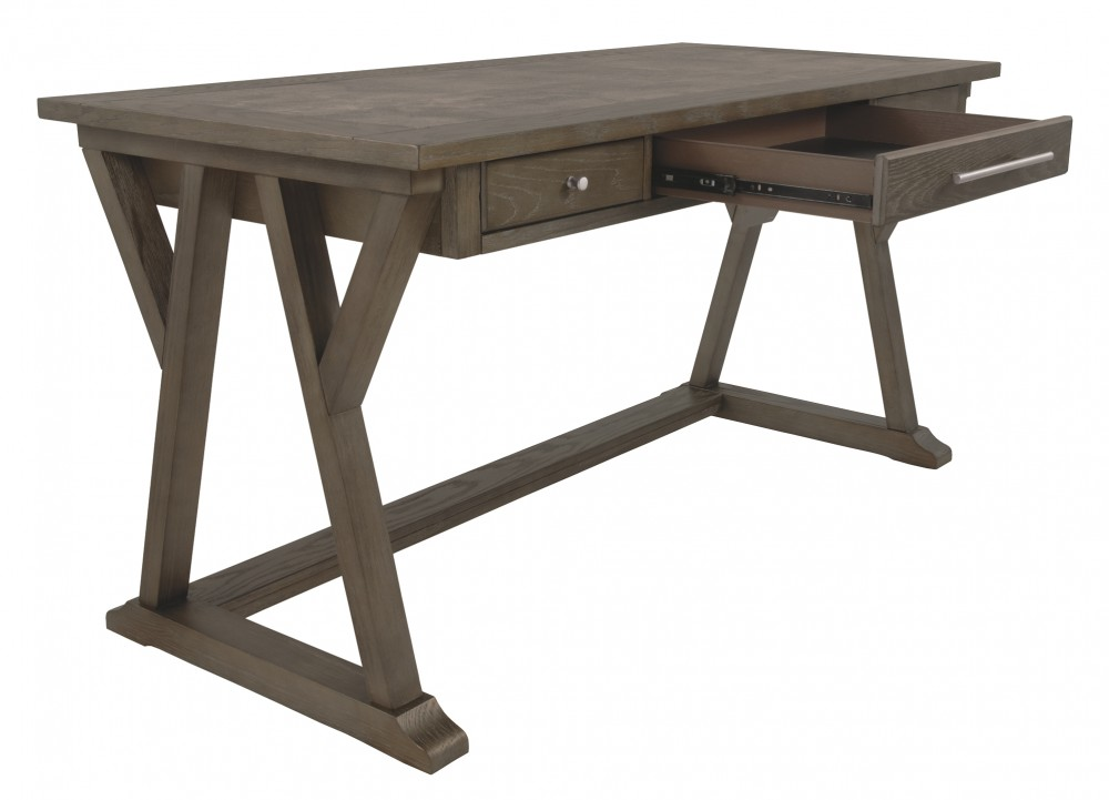 Luxenford  Grayish Brown  Home Office Large Leg Desk