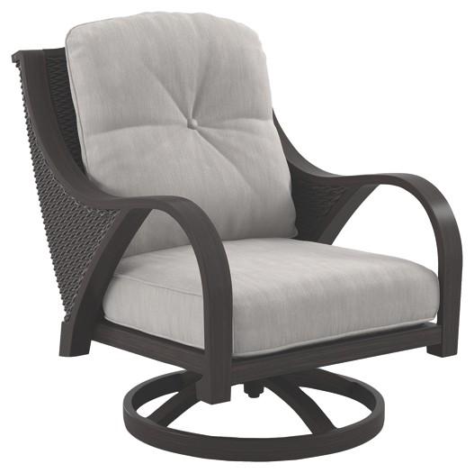swivel lounge chairs velvet tufted dining marsh creek brown w cushion 2 cn p775 821