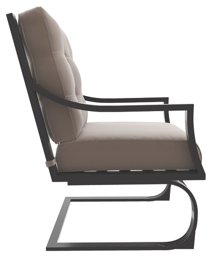 Spring Chair Town Court Brown Spring Lounge Chair 4 Cn