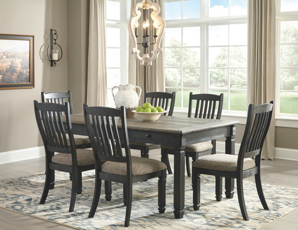 Tyler Creek  BlackGray  Rectangular Dining Room Table