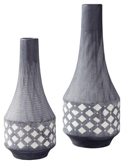 Dornitilla BlackWhite Vase Set 2CN A2000262