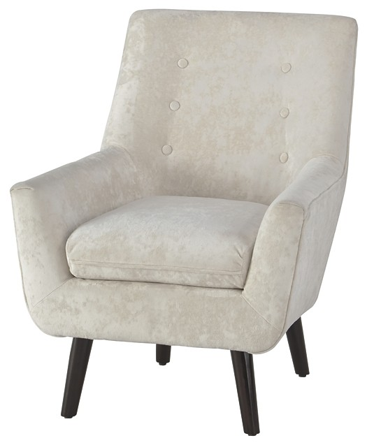 Accent Chair Living Room Zossen Ivory Accent Chair