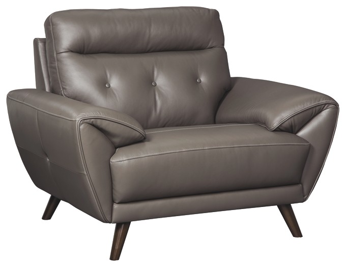 Discount Leather Chairs Sissoko Gray Chair