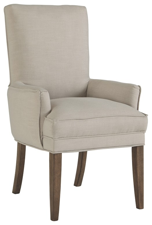 dining chair seat covers b and m desk opening width grindleburg white light brown uph arm 2 cn d754