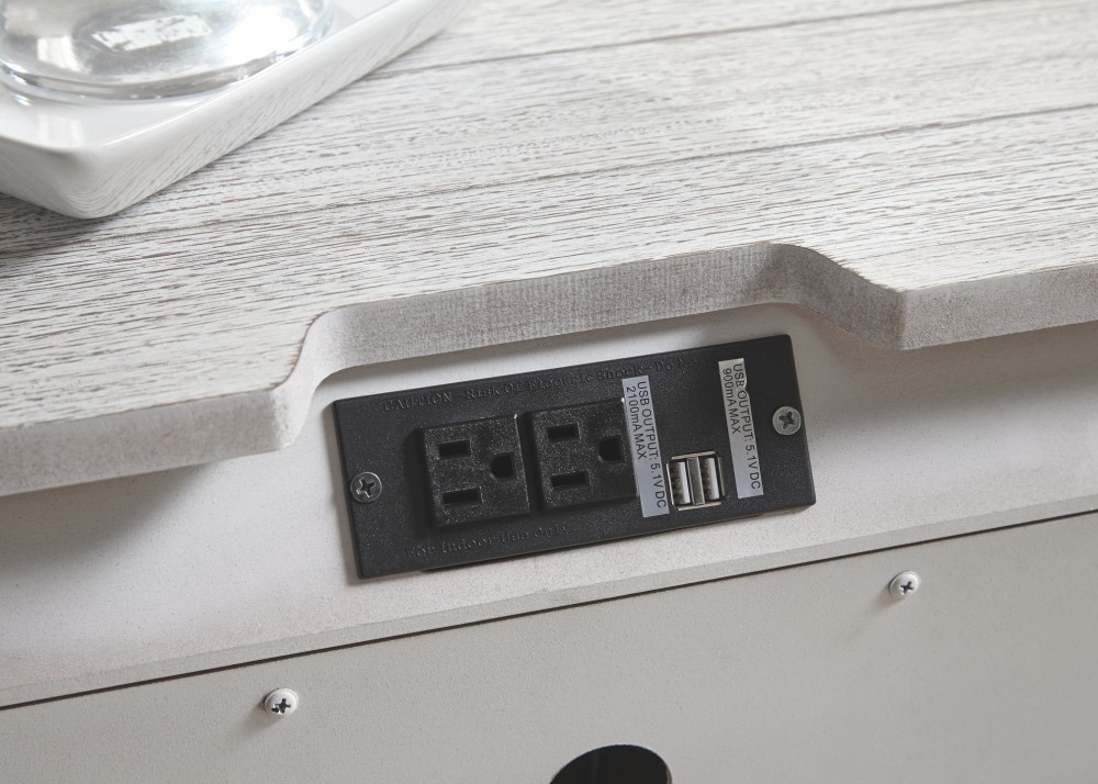 Brashland  White  Three Drawer Night Stand  B74093  Night Stands  Price Busters Furniture