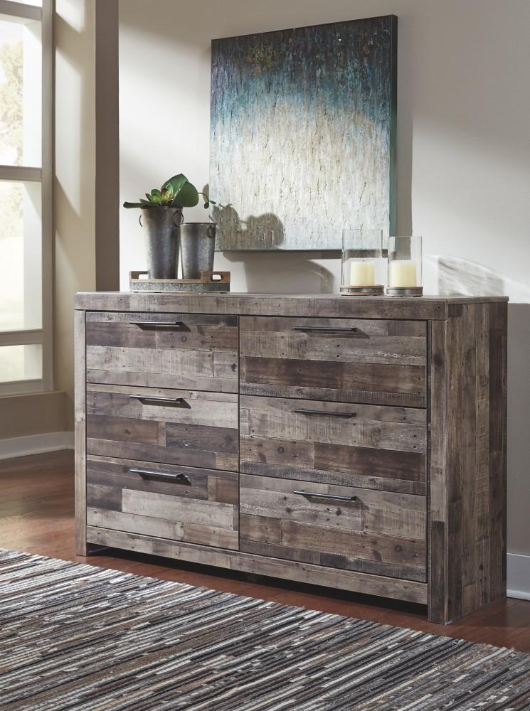 Derekson  Multi Gray  Dresser  B20031  Bedroom Dressers  Price Busters Furniture