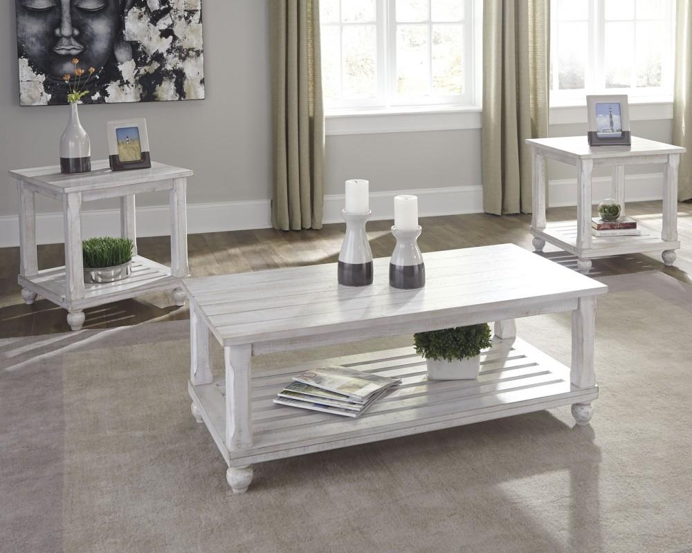 Cloudhurst White Occasional Table Set 3CN T488 13