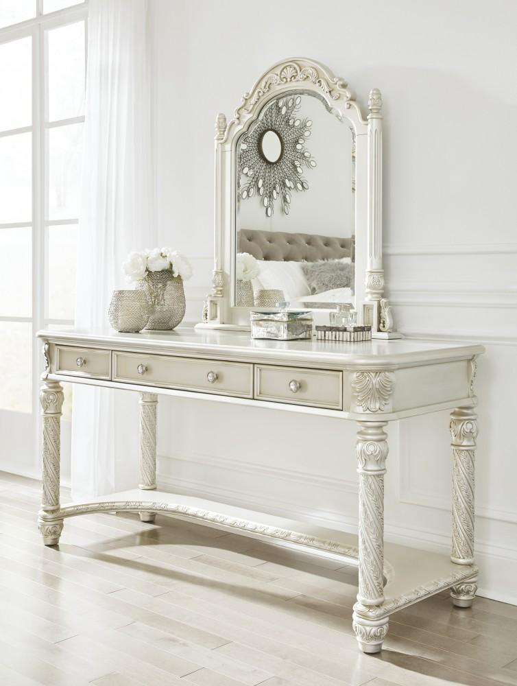Cassimore Pearl Silver Vanity Amp Mirror B7502225