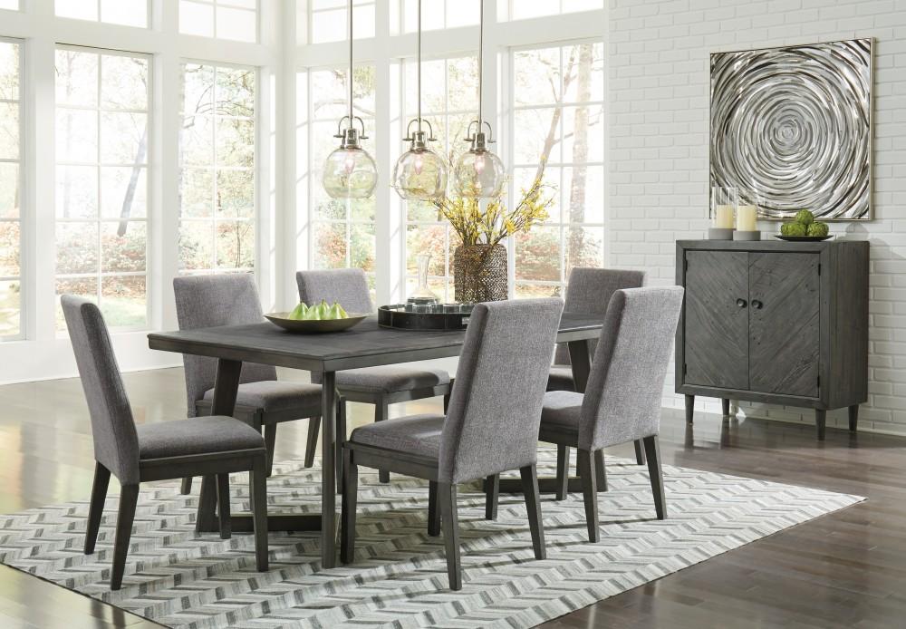 Besteneer  Rectangular Dining Room Table  6 UPH Side
