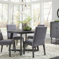 Gray Side Chair Covers Pottery Barn Besteneer Round Dining Room Table 4 Uph Chairs D568 50 01