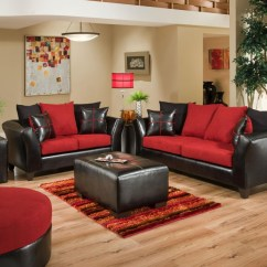 Sierra Red Living Room Sectional Sofa Set Designs 4170 And Loveseat 04 Groups