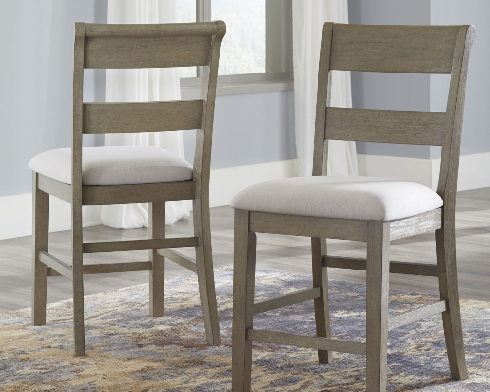 Upholstered Bar Chairs Chapstone Gray Upholstered Barstool 2 Cn