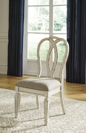 White Dining Room Chair Realyn Chipped White Dining Uph Side Chair 2 Cn