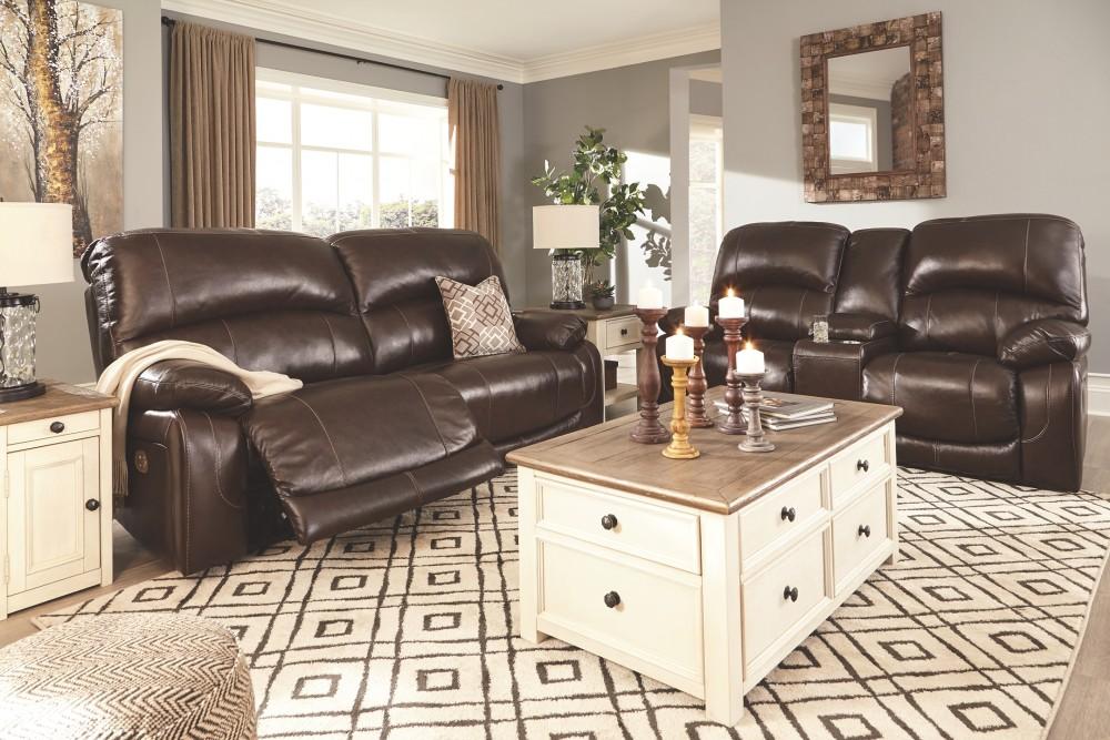 Hallstrung Chocolate 2 Seat Reclining Power Sofa