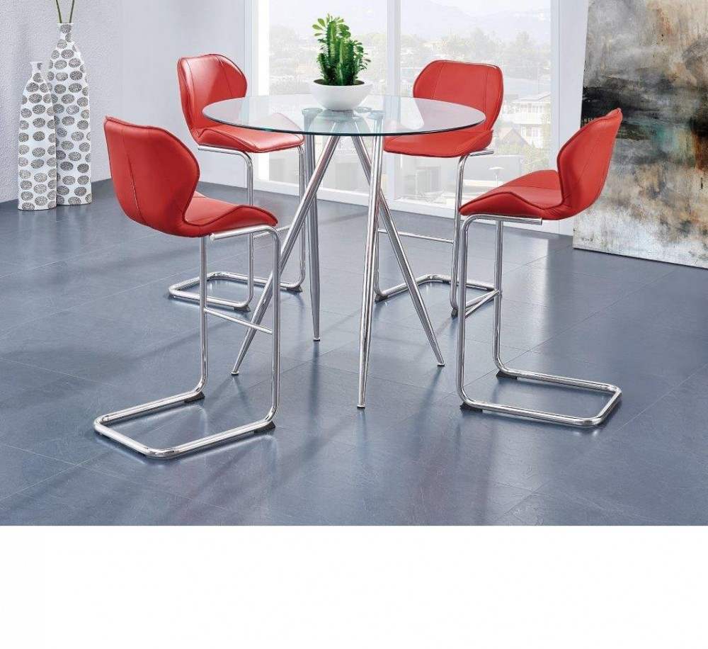 red counter height dining chairs high babies r us global d1503 room groups jb s