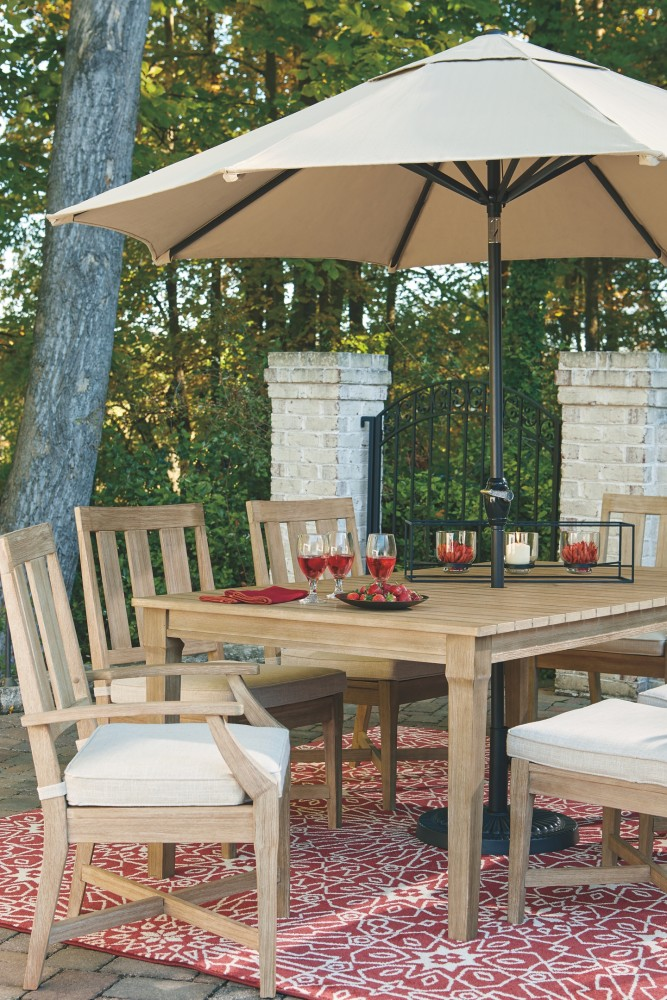 Clare View Beige RECT Dining Table WUMB OPT P801