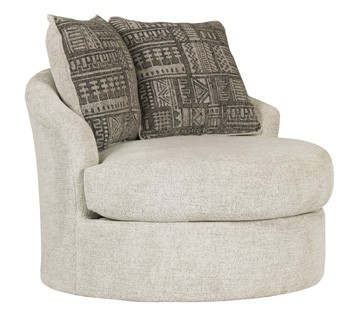 Swivel Living Room Chairs Soletren Stone Swivel Accent Chair