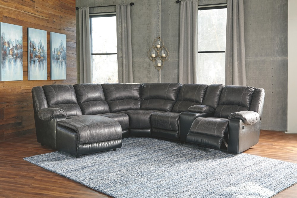Nantahala 6 Piece Reclining Sectional With Chaise
