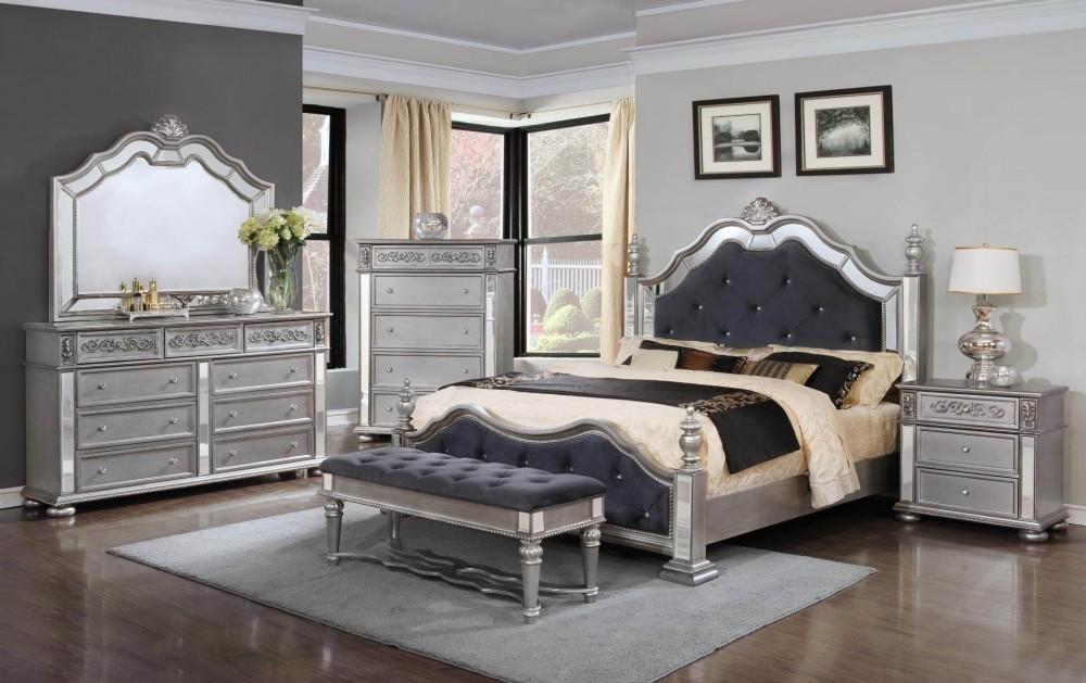 diana silver bedroom dresser mirror queen bed