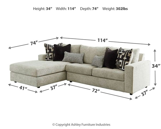 ravenstone 2 piece sleeper sectional with chaise