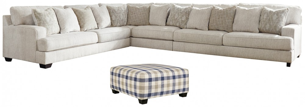 rawcliffe 4 piece sectional with ottoman