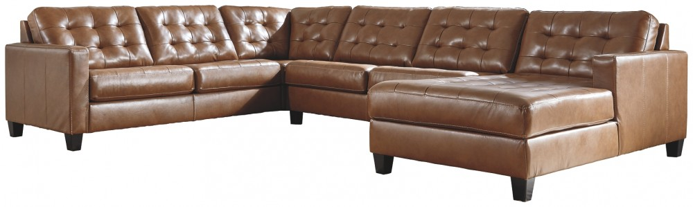 baskove 4 piece sectional with chaise