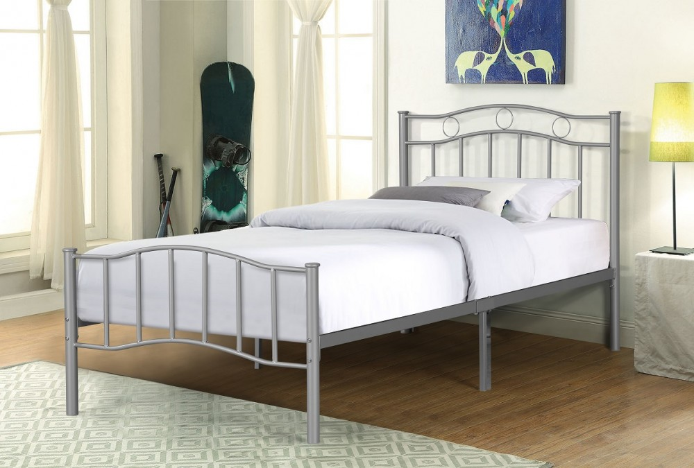 ozzie twin bed black silver or pink