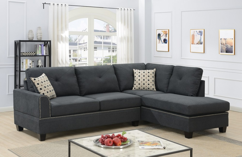 pamela dark gray almost black sectional