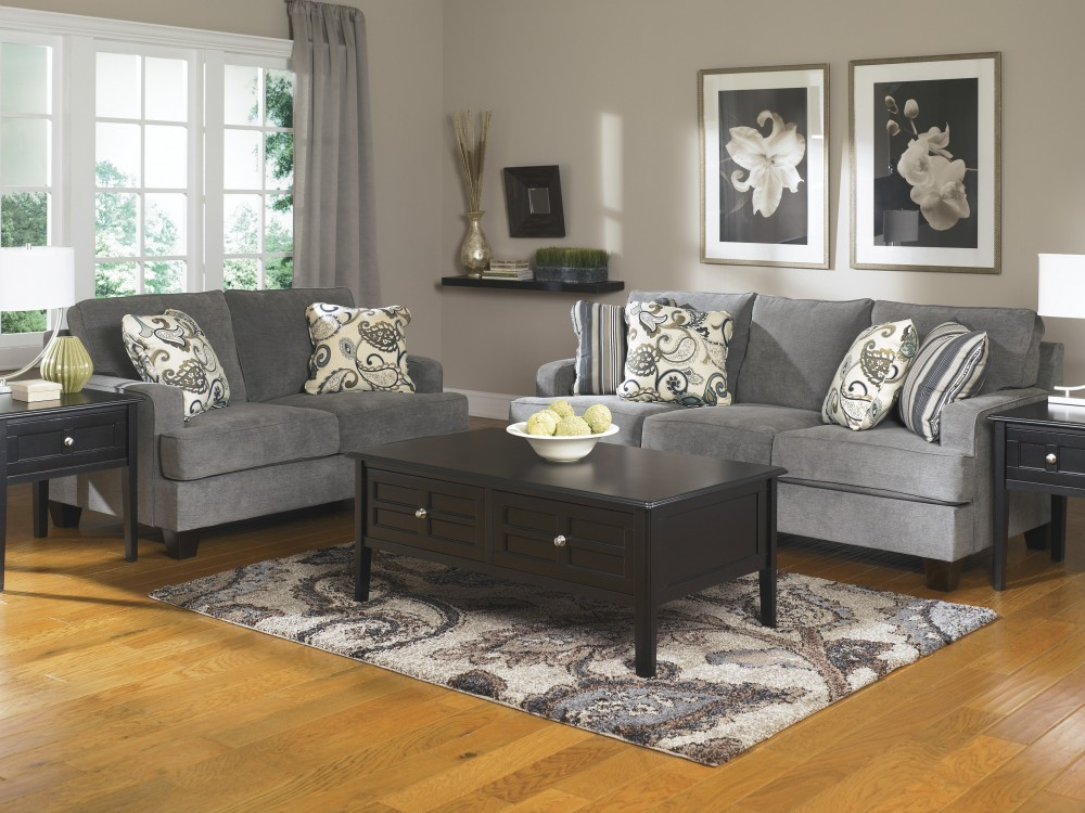 living room with loveseat and chairs comfy furniture yvette steel sofa groups arena