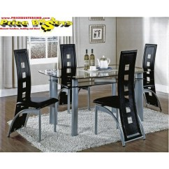 Black Table And Chairs Xmen Guy In Wheelchair Metro 4 Blk Dining Room Groups Price Busters Furniture