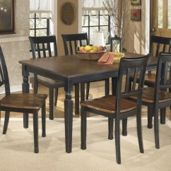 6 Chair Dining Set High Chairs Baby Bunting Owingsville Rectangular Room Table Side D580 02