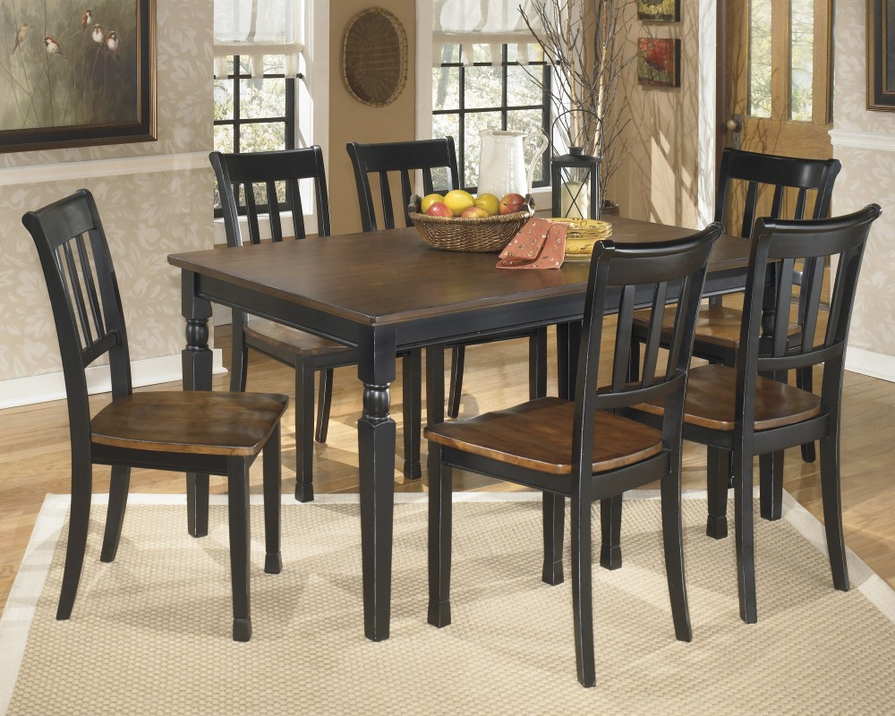 Table With Two Chairs Owingsville Rectangular Dining Room Table 6 Side Chairs