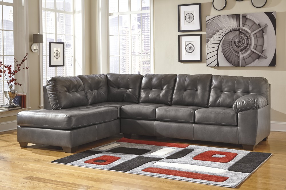 sectional sofa dallas fort worth snoozer overstuffed luxury pet x large hot fudge alliston durablend gray 2 pc laf chaise leather sectionals texas discount furniture